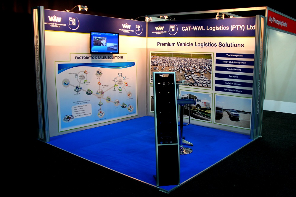 Exhibition Stands: CAT-WWL Logistics, SAAW 2014