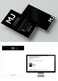 Branding, Logo and business card design, MJ Accounting